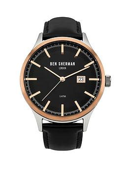 ben-sherman-ben-sherman-spitalfields-sport-black-dial-date-display-black-leather-strap-mens-watch