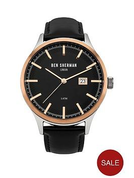 ben-sherman-ben-sherman-spitalfields-sport-black-dial-date-display-black-leather-strap-mens-watch