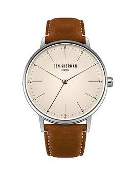 ben-sherman-ben-sherman-portobello-touch-off-white-dial-brown-leather-strap-mens-watch