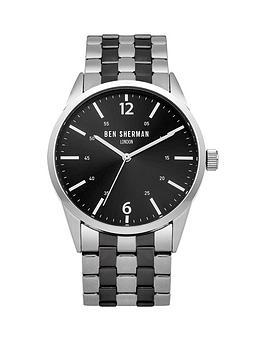 ben-sherman-ben-sherman-black-dial-silvergun-stainless-steel-bracelet-mens-watch