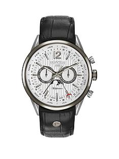 roamer-roamer-superior-business-multifunction-white-dial-black-leather-strap-mens-watch