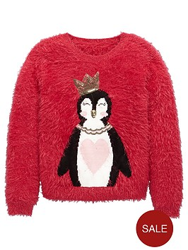 v-by-very-girls-penguin-novelty-eyelash-jumper