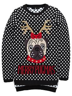 v-by-very-girls-pug-reindeer-novelty-jumper