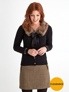joe-browns-wartime-faux-fur-trim-cardigan