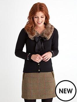 joe-browns-wartime-fur-trim-cardigan