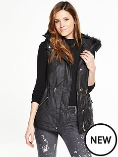 v-by-very-waxed-gilet