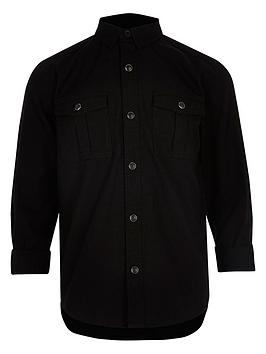 river-island-boys-black-military-oxford-shirt