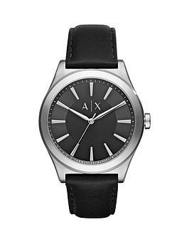 armani-exchange-black-dial-silver-tone-case-leather-strap-mens-watch