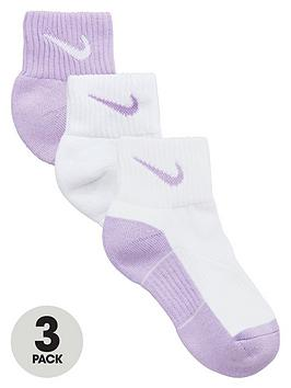 nike-girls-quarter-socks-3-pack