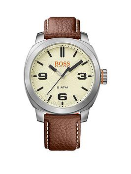 hugo-boss-hugo-boss-cape-town-casual-cream-dial-brown-leather-strap-mens-watch