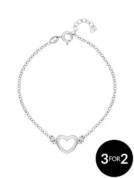 love-silver-sterlingnbspsilver-plated-with-rhodium-open-heart-bracelet
