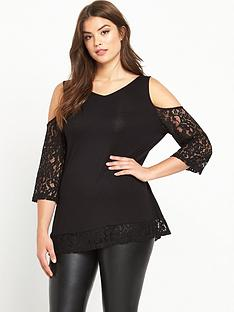 so-fabulous-cold-shoulder-lace-trim-top-black
