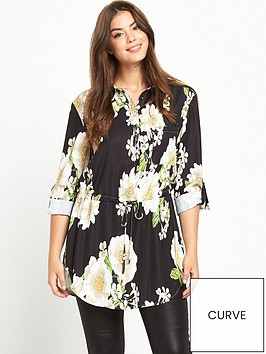 v-by-very-curve-curve-printed-tab-sleeve-shirt-black-base-floral