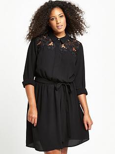 so-fabulous-curve-lace-yoke-shirt-dress-black