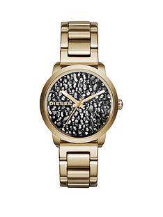 diesel-diesel-flare-rocks-stone-dial-gold-tone-bracelet-ladies-watch