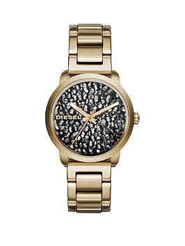 diesel-diesel-flare-rocks-stone-dial-gold-tone-bracelet-ladies-watch