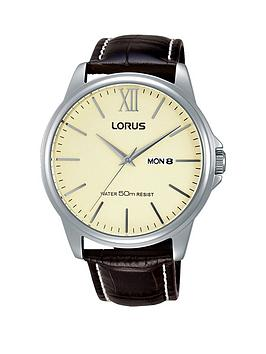lorus-snowflake-dial-leather-strap-mens-watch