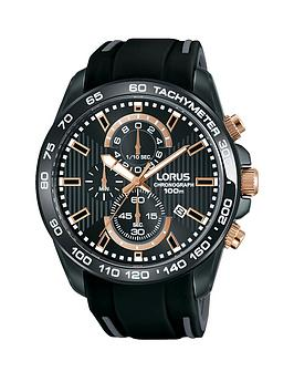 lorus-black-chronograph-black-silicone-strap-mens-watch