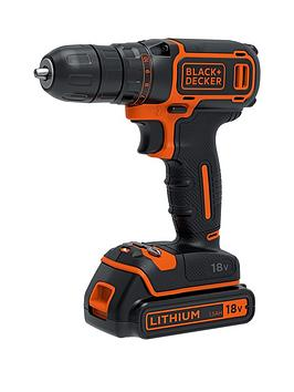 black-decker-bdchd18k-gb-18v-lithium-ion-2-gear-combi-hammer-drill-with-1-battery-amp-kitbox