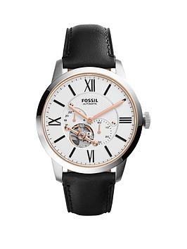 fossil-fossil-mechanical-townsman-white-dial-black-tan-leather-strap-mens-watch