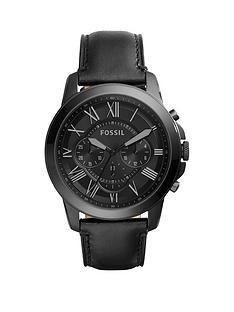 fossil-fossil-grant-black-dial-black-leather-strap-mens-watch