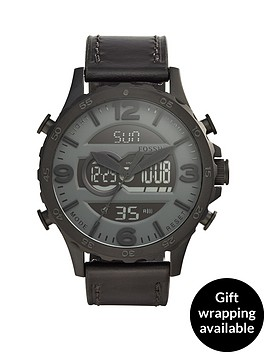 fossil-fossil-nate-black-dial-black-leather-strap-mens-watch