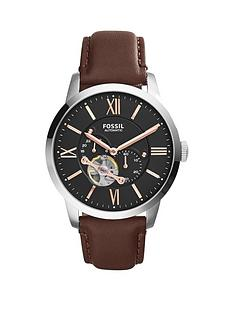 fossil-fossil-mechanical-townsman-grey-dial-brown-tan-leather-strap-mens-watch