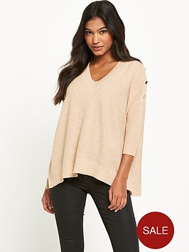 river-island-button-knitted-jumper