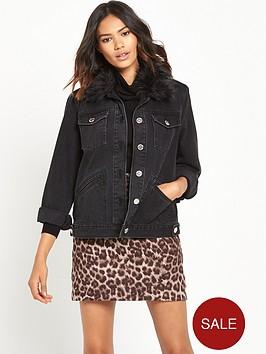 river-island-faux-fur-collar-denim-jacket
