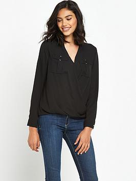 river-island-long-sleeved-military-blouse