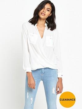 river-island-long-sleeve-military-blouse