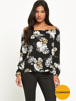 river-island-printed-bardot-top