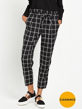 river-island-soft-tie-waist-check-trouser