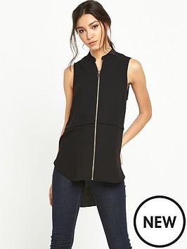 river-island-zip-front-sleeveless-blouse
