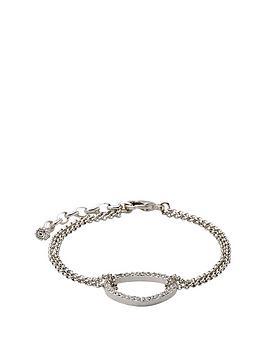 pilgrim-silver-plate-crystal-oval-bracelet