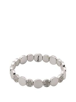 pilgrim-silver-plated-crystal-disc-stretch-bracelet