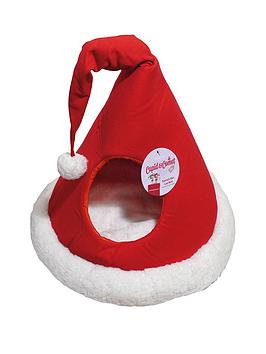 cupid-comet-santas-hat-cat-bed