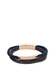 fossil-fossil-rose-gold-plate-navy-and-brown-leather-cuff