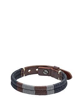 fossil-brown-leather-plait-bracelet