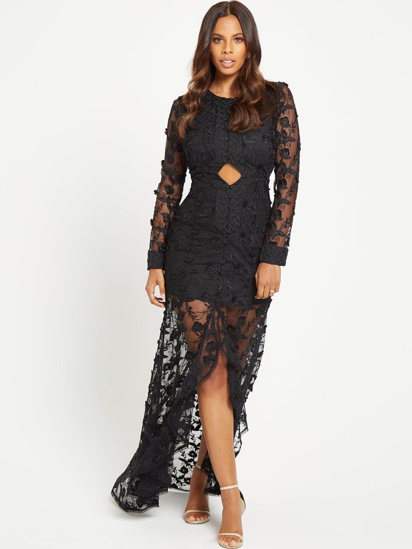 Rochelle black lace dress monsoon