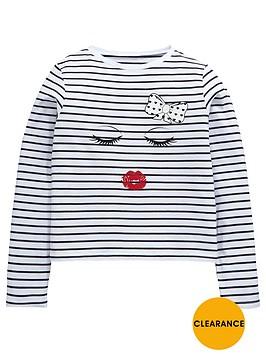 v-by-very-girls-kiss-stripe-t-shirt