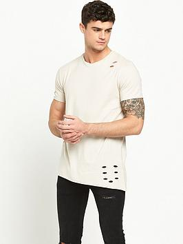 river-island-distressed-asymmetric-hem-short-sleeve-tshirt