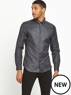 river-island-slim-fit-printed-spot-shirt