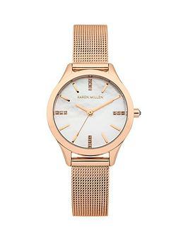 karen-millen-karen-millen-mother-of-pearl-dial-rose-gold-stainless-steel-mesh-strap-ladies-watch