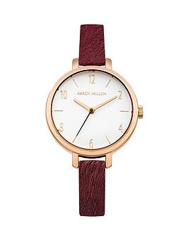 karen-millen-karen-millen-white-dial-mulberry-pony-fur-leather-strap-ladies-watch