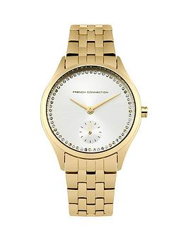 french-connection-french-connection-louisa-silver-sunray-dial-gold-stainless-steel-bracelet-ladies-watch