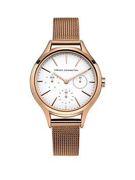 french-connection-french-connection-daisy-grand-multifunction-white-dial-rose-gold-stainless-steel-mesh-strap-ladie