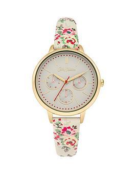 cath-kidston-cath-kidston-kingswood-rose-off-white-multi-dial-multi-colour-printed-pu-strap-ladies-watch