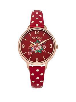 cath-kidston-cath-kidston-briar-rose-red-flowers-printed-dial-red-polka-dot-print-strap-ladies-watch