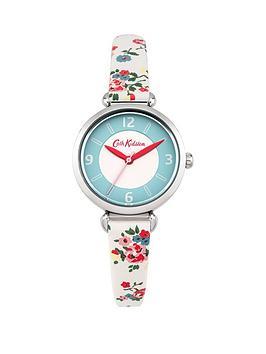 cath-kidston-cath-kidston-kew-sprig-stone-cream-dial-cream-floral-printed-fabric-strap-ladies-watch